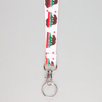 Blue Crown California Bear Lanyard White One Size For Men 21873415001