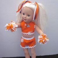 American Girl 18 Inch Doll Cheer Uniform Using Clemson Fabric Cheer Out Outfit Our Generation Doll Clothes By Sweetpeas Bows & More