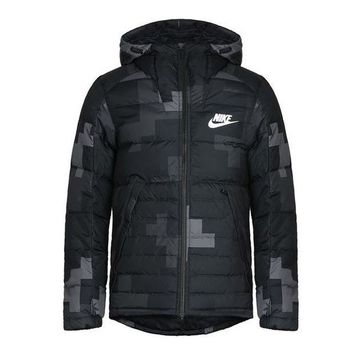 LMF4AX New Arrival Authentic NIKE FILL JKT HD AOP S Men's Jacket Down coat Hooded Sportswear