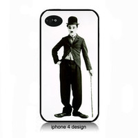 Charlie Chaplin iphone 4 cell phone accessory case, Iphone case, Iphone 4s case, Iphone 4 cover, i phone case, i phone 4s case