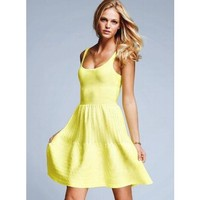 Victoria's Secret Cotton Fit-and-Flare Dress