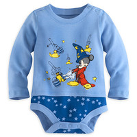 Sorcerer Mickey Mouse Disney Cuddly Bodysuit for Baby   Disney Store