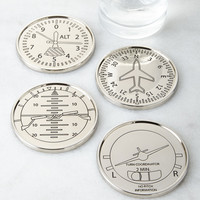 Four Airplane Coasters - Godinger