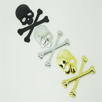 3D Stickers Accessories Decal Skull Metal Skeleton Crossbones Car Motorcycle Sticker Cool Label Skull Emblem Badge Car Styling