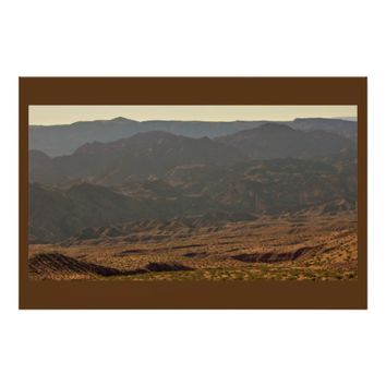 View of Mountains Poster