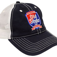 Old Style Beer Navy/white Trucker Hat