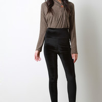 Velvet High Waist Stretch Leggings