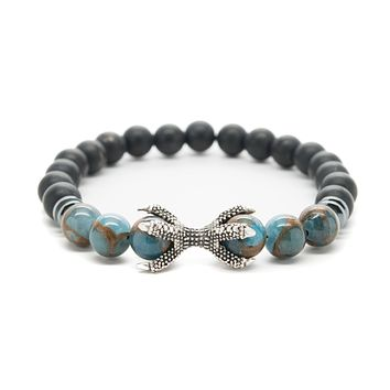 Multicolor Agate and Onyx Gemstones Beaded Bracelet for Men and Women