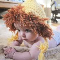 Newborn Crochet Lion Hat-- Newborn Photo Prop-Halloween Available in Newborn 0-3 months and 3-6 months--Jungle Theme--Noah's Ark