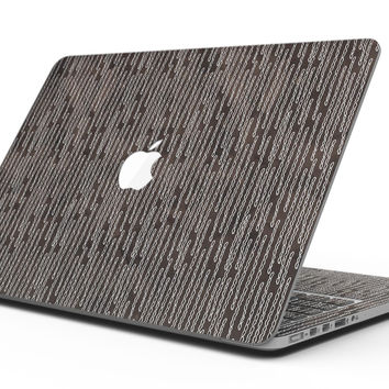 Brown and White Watercolor Squiggles - MacBook Pro with Retina Display Full-Coverage Skin Kit