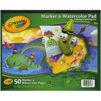 "Crayola Marker & Watercolor Pad 10""X8""-50 Pages"