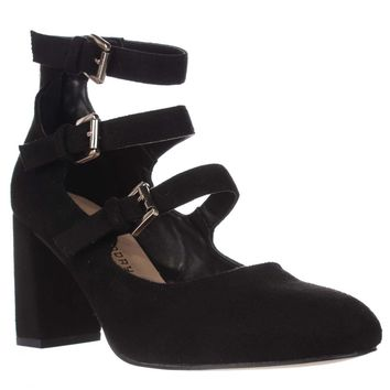 Chinese Laundry Dedra Strappy Mary Jane Pumps, Black, 6 US / 36.5 EU