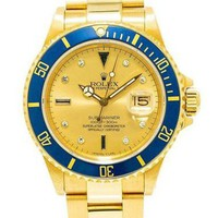 Rolex new fashion men's self-winding watch golden