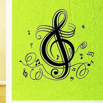 Wall Stickers Vinyl Decal Classical Music Notes Great Room Decor Unique Gift (ig1784)