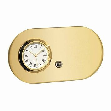 Personalized Free Engraving Desk Goldtone Clock