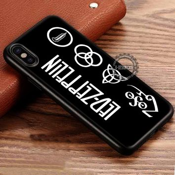 Amazing Band Led Zeppelin Symbol iPhone X 8 7 Plus 6s Cases Samsung Galaxy S8 Plus S7 edge NOTE 8 Covers #iphoneX #SamsungS8