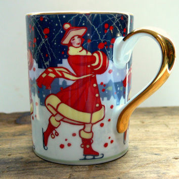 Vintage Winter Carnival Mug Collectible Christmas by EitherOrFinds