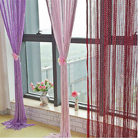 1X Fringe Crystal String Curtain Tassel Door Window Room Divider Colors 3C