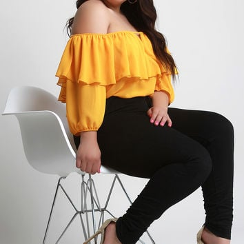 Plus Size Ruffled Top | UrbanOG