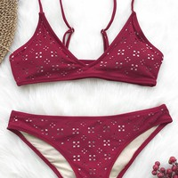 Cupshe You Get It Solid Bikini Set