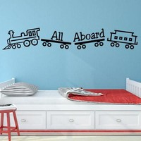Boys Room Train Wall Decal - Great Addition To Any Bedroom