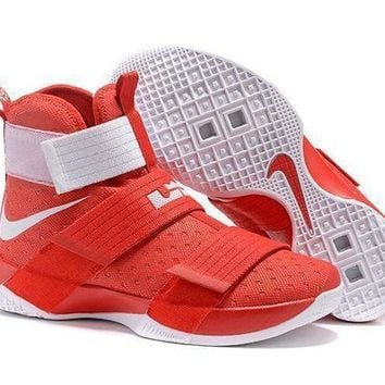 MDIGGE2 Beauty Ticks Nike Lebron Soldier 10 Ep Ohio State Basketball Shoes Us7-12
