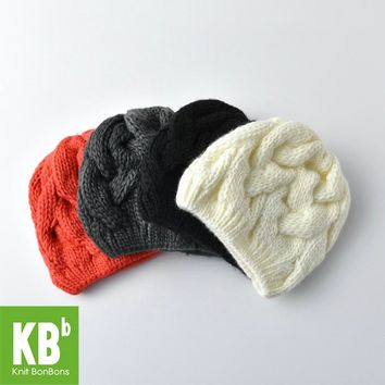 2017 KBB Spring     Cable Comfy Children Women Men Knit Warm Stylish multicolors Yarn Knit Winter Hat Beanie Female Cap