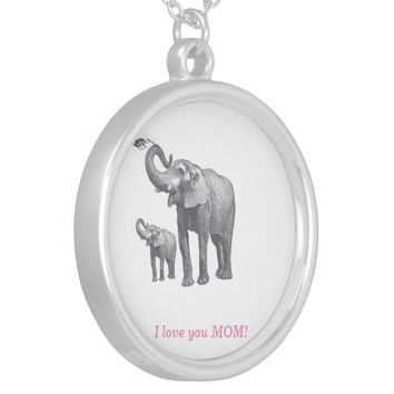 Gift for Mother Day Silver Plated Necklace