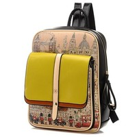College Style Graffiti Backpack School Bag
