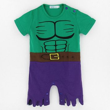 Baby Boys Hulk Costume Romper Newborn Superhero Party Funny Jumpsuits Infant Avengers Playsuits For Christmas Baby Boy New year