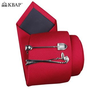 Men Novelty Tie Bar Clip Spade Design Unique Tie Clasp Pin Wedding Business Favor Gifts