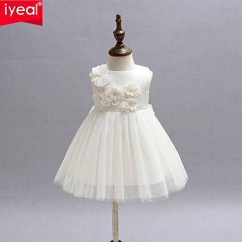 Baby girls dress Newborn Christmas dresses Infant Satin Party Flower Girl Christening Gown