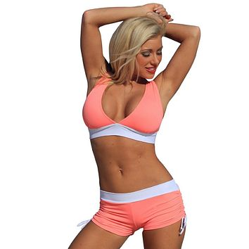 Coral Candy Slimsuit Sport Bikini Banded Swimsuit Swimwear - Top, Bottom or Set