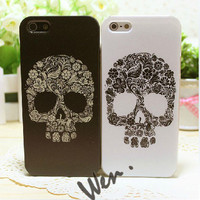 Skull of Flowers iPhone 5 Case, iPhone 4/4S Case, iPhone Cases for Couples, Best Friends