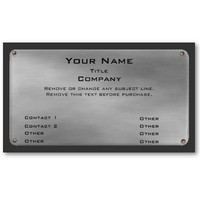 Metal Business Card II -silver- from Zazzle.com