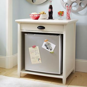 Snack Cabinet + Top W/ Fridge