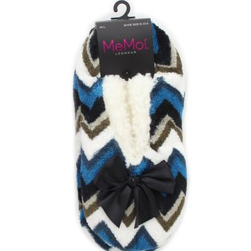 Chevron Shades Sherpa Lined Women's Slippers l Teen Slippers