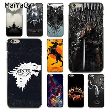 MaiYaCa Game Thrones Daenerys Dragon Jon Snow tyrion lannister phone case  for iPhone X 6 6s 7 7plus 8 8Plus  5 5S XS XR XS MAX