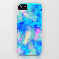 Electrify Ice Blue iPhone Case by Amy Sia | Society6
