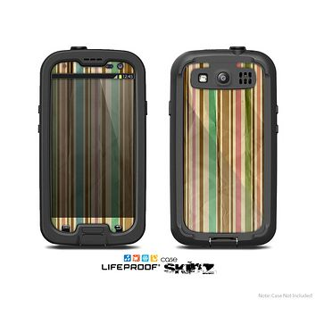 The Vintage Solor Striped V3 Skin For The Samsung Galaxy S3 LifeProof Case