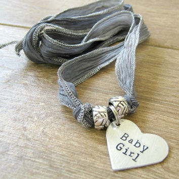Baby Girl Necklace, Ribbon Necklace, DDlg Necklace, Baby girl Collar, Choose your ribbon, Ribbon BDSM Collar, DDLG collar, day collar