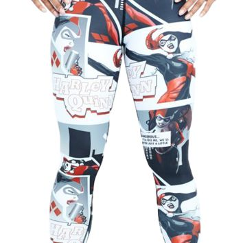 Hero Harley Quinn Leggings (White)