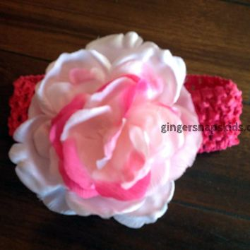 Giggle Moon Winter Wonderland Pink Flower Headband