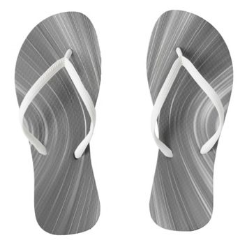 Gray Mist Futuristic Driving Dreams Flip Flops