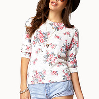 Rose Pattern Sweater