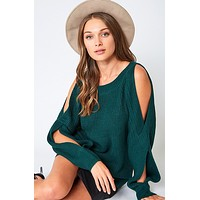 One Chilly Night Sweater - Green