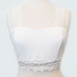 City Siren Lace Detailed Crop Top - WHITE