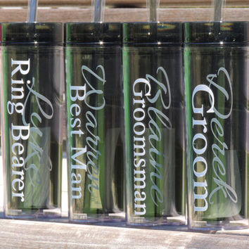 Groomsmen acrylic cups, skinny acrylic cups, wedding party tumblers, bridesmaid gift, bachelorette party cups, vegas drinking cup, tumbler
