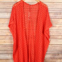 Annette Long Cardigan in Coral