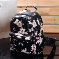 Women Cute Floral School Bags Backpack Mini 2016 Fashion FREE SHIPPING
